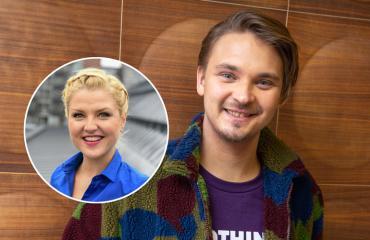 Roope Salminen oli lemmenlomalla Helmi-Leena Nummelan kanssa.
