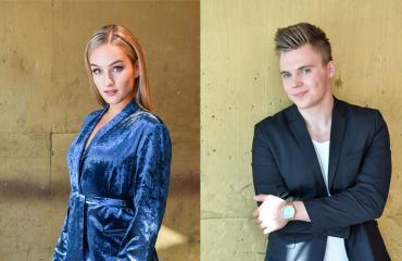 Nelli Matula ja Elias Kaskinen viihtyvät hyvin yhdessä.