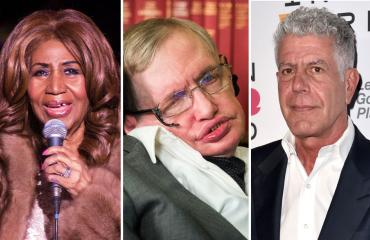 Aretha Franklin, Stephen Hawking ja Anthony Bourdain