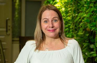 Susan Ruusunen harrastaa teatteria.
