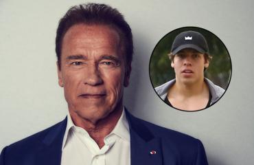 Arnold Schwarzeneggerin poika viihtyy kuntosalilla.
