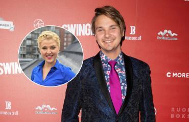 Roope Salminen on lemmenlomalla Helmi-Leena Nummelan kanssa.