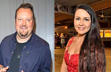 Sami Hedberg ja Saija Tuupanen lentokentällä.