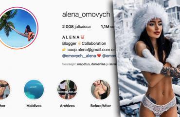 Alena Omovych Instagram