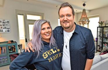 Sami ja Ilona Hedberg juhlivat yhdessä.