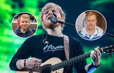 Julkkikset fanittivat Ed Sheerania.