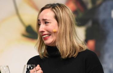 Anni Hautala joutui kiipeliin kirjamessuilla.
