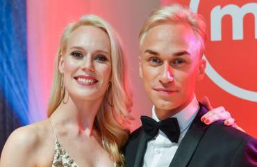 Näyttelijä Christoffer Strandbergin avomies on hullaantunut tansseista.