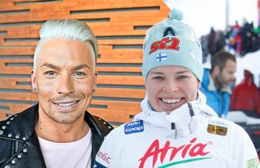 Krista Pärmäkoski pitää yhteyttä Antti Tuiskun kanssa.