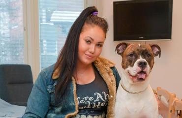 Janita Lukkarisen Dina-koira vietiin pois Terhokodista.