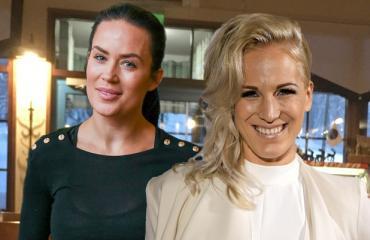 Martina Aitolehti ja Nanna Karalahti nähtiin Levillä.