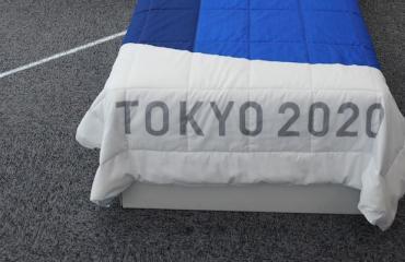 Olympialaisten sängyt on valmistettu kierrätettävistä materiaaleista.