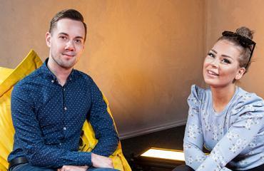 Antero Alhonen ja Jenna Mäkikyrö