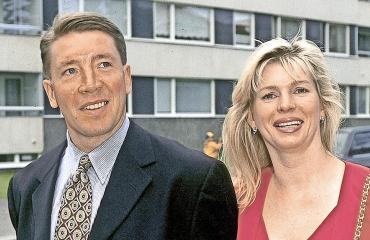 Tiina ja Jari 1990-luvulla.