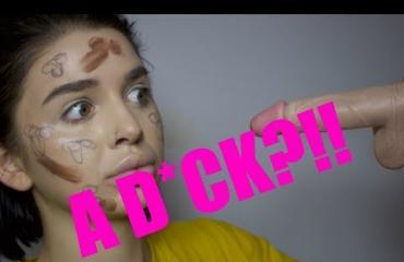 Tubettaja halusi hauskuuttaa 32 miljoonaa seuraajaansa: testasi dildoa meikkaamiseen - katso!