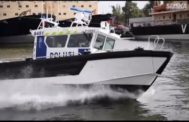 Huh, tällainen peto on poliisin uusi lippulaiva – video!