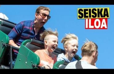 """Vuosi sitten isänsä menettänyt Jere pääsi Linnanmäelle Aku Hirviniemen kanssa: """"Elämäni hauskin päivä"""" – katso video!"""