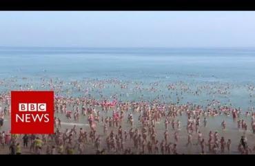 Irlannissa rikottiin naku-uinnin maailmanmestaruus - katso video!