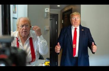 Näin syntyy maailman kuuluisin Donald Trump -kaksoisolento: Dennis muuntautui Yhdysvaltain presidentiksi ja vokotteli naisia Helsingissä – häkellyttävä video ja kuvat!