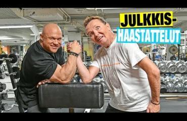 Pohjalta noussut näyttelijä Mikko Rasila tekee erikoista yhteistyötä yli 100-kiloisen bodarin The Möykyn kanssa – video!