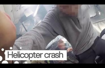 Huh mikä video! Mies taltioi helikopterin putoamisen - istui itse kyydissä!