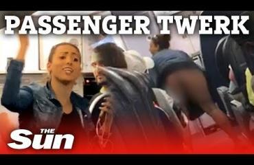 Humalainen lentohäirikkö pääsi YouTubeen - twerkkasi ja huuteli ennen kuin poistettiin matkustamosta!