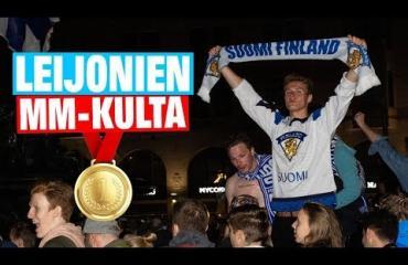 Vauhdikas video! Suomalaiset sekosivat täysin MM-voitosta: vaatteet pois ja suihkulähteeseen!