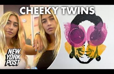 Kaksoset tekivät maalauksen Kim Kardashianin kotipornovideosta - nyt Allie ja Lexi maalaavat pepuillaan: Leikittelemme seksillä!