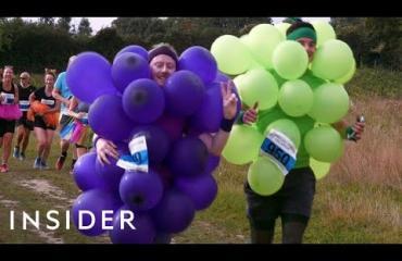 Run Bacchus-tapahtuma Isossa-Britanniassa yhdistää maratonin ja viinin siemailun!