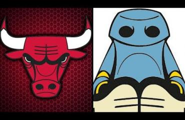 Oletko hoksannut? Chicago Bullsin logo näyttää ylösalaisin käännettynä kuksivalta robotilta!
