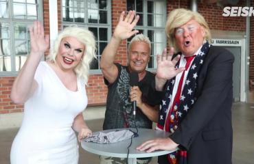 """Hulvaton video: Juha Laitilan parodia Donald Trumpista – mitä tapahtuu kun presidentti kohtaa """"Tiina Jylhän""""?!"""